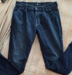 Trouser style jeans